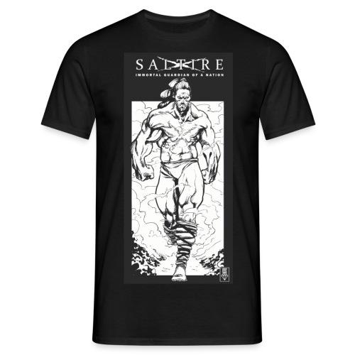 Saltire Scottish Superhero Logo - Men's T-Shirt