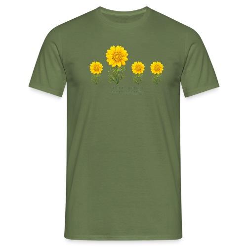 4 Blumen - Männer T-Shirt