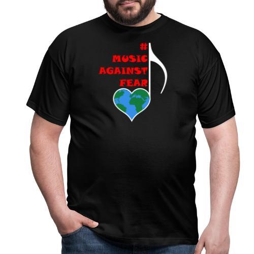 #MusicAgainstFear - Weiß - Männer T-Shirt