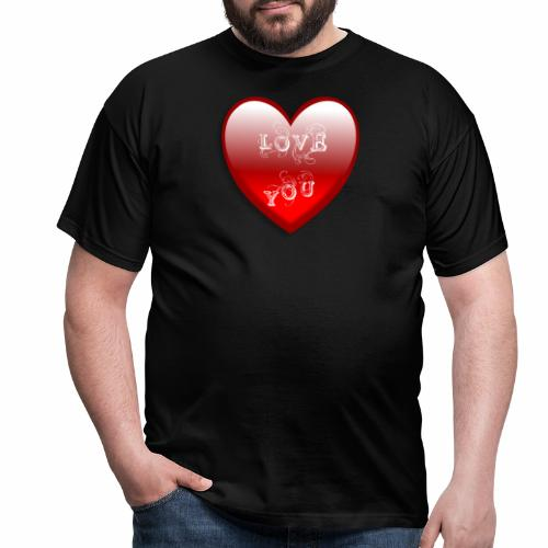 Love You - Männer T-Shirt