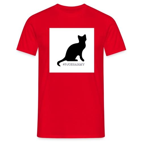 #pjoesarmy met poes - Mannen T-shirt