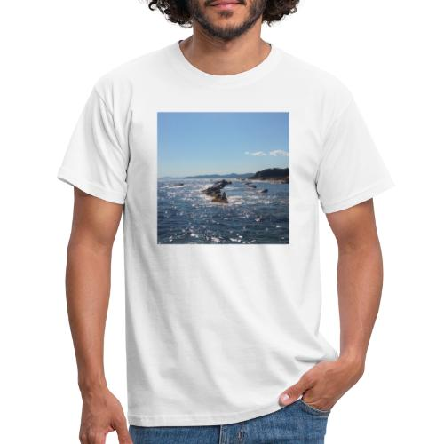 Mer avec roches - T-shirt Homme