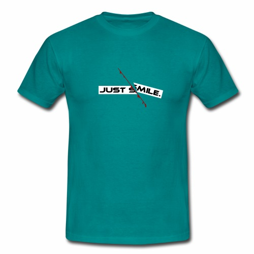 JUST SMILE Design mit blutigem Schnitt, Depression - Männer T-Shirt