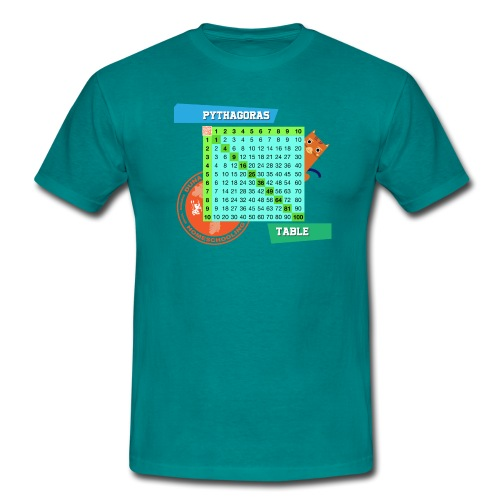 Pythagoras table - T-skjorte for menn