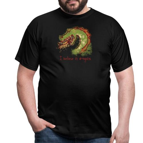 I believe in dragons - Men's T-Shirt