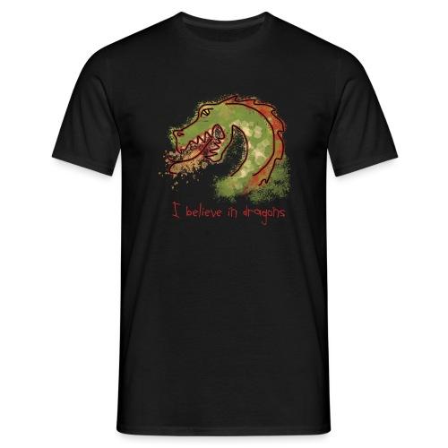 I believe in dragons - Men's T-Shirt