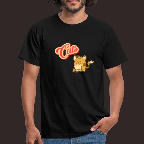 Katze | Katzen süß Schriftzug - Männer T-Shirt