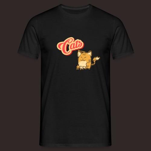 Katze   Katzen süß Schriftzug - Männer T-Shirt