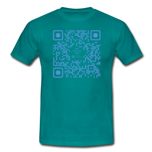 QR The New Internet Shouldn t Be Blockchain Based - Men's T-Shirt