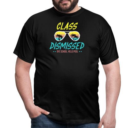 Ingen mer skola, hej då skola hejsan pool - T-shirt herr