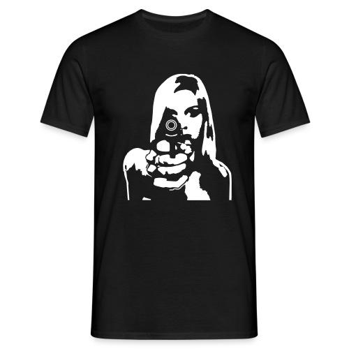 girlpointinggun - Männer T-Shirt