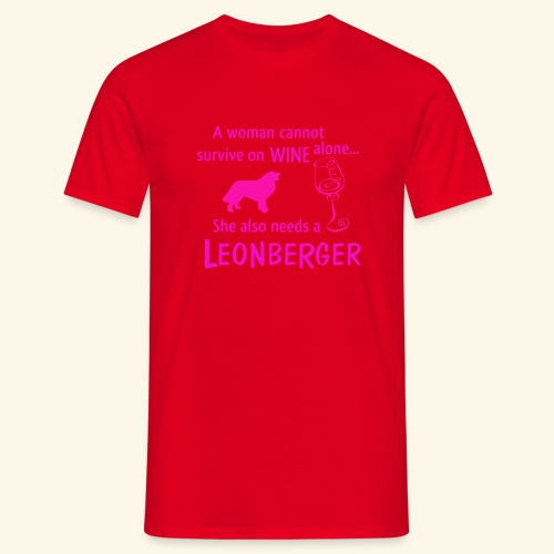 Wine&Leonberger - T-shirt herr