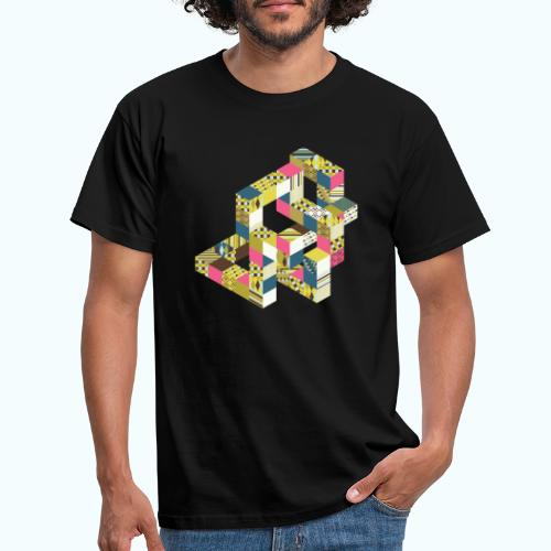 Optical illusion Bright colors - Men's T-Shirt