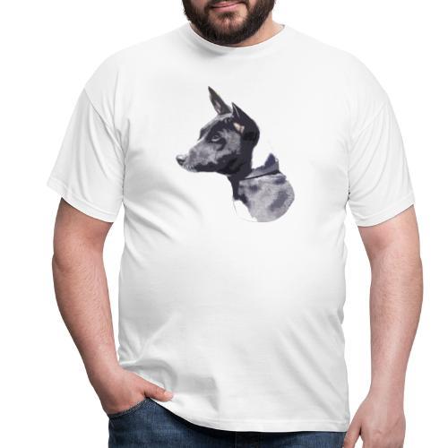 basenji black - Herre-T-shirt
