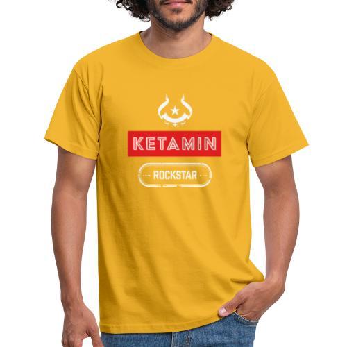 KETAMIN Rock Star - White/Red - Modern - Men's T-Shirt