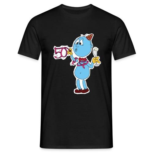 50 Jahre Mann mit Rand transparent png - Männer T-Shirt