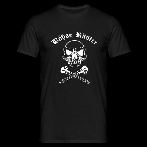 totenkopf mit ratschelogo klein - Männer T-Shirt