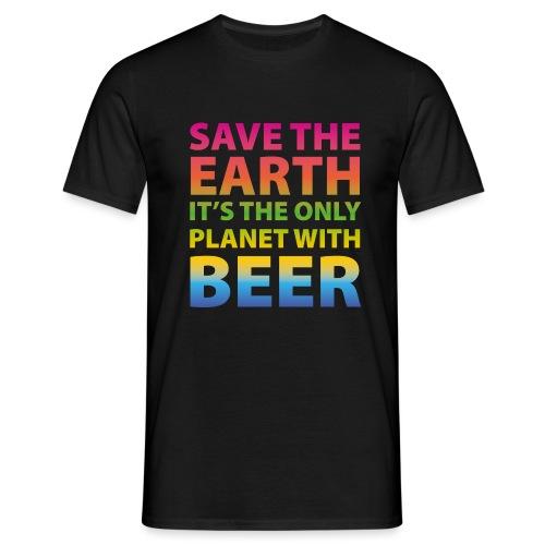 sauver la bière de la terre - T-shirt Homme