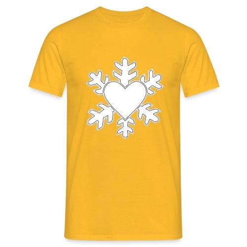 Flocon coeur 3D - T-shirt Homme