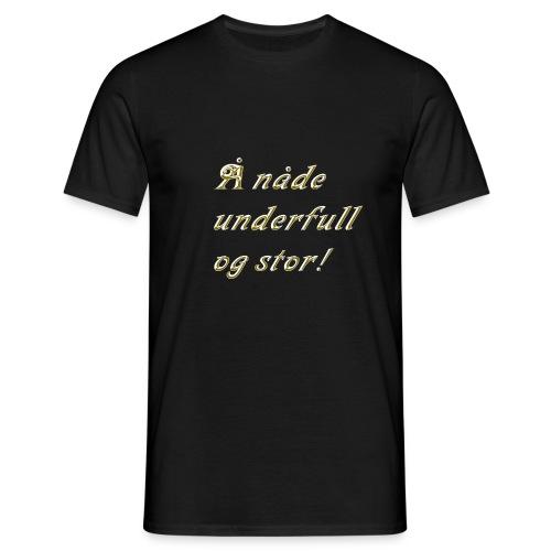 Å nåde gull gif - T-skjorte for menn