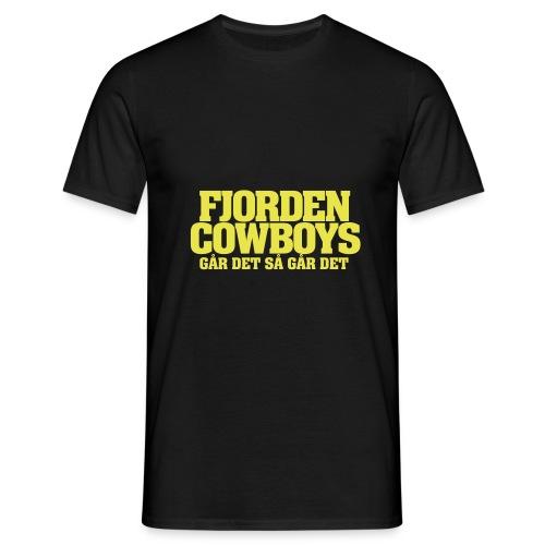 FJORDEN COWBOYS ga r det - T-skjorte for menn