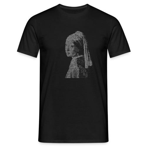 ascii perlenohrring - Männer T-Shirt