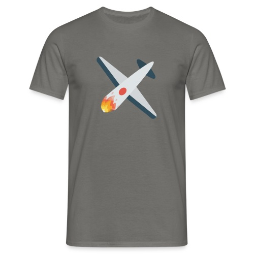 Falling Plane - Men's T-Shirt
