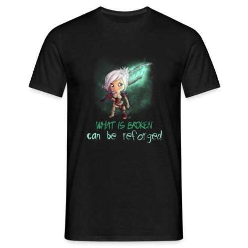 Chibi Riven con scritta - Maglietta da uomo