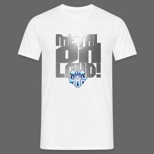 metalonloud large 4k png - Men's T-Shirt