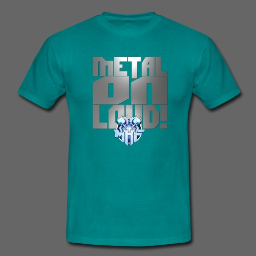 metalonloud large 4k png - Men's T-Shirt