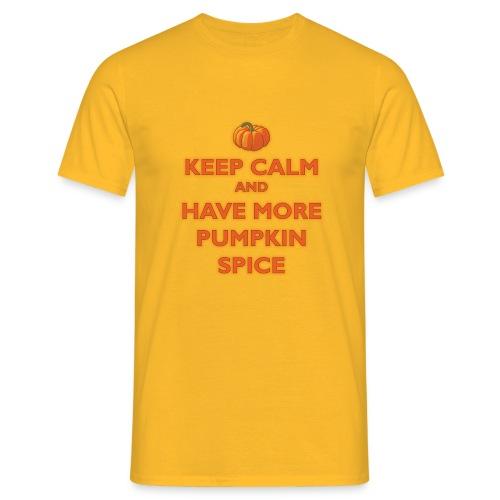 KeepCalmPumpkinSpice - Maglietta da uomo