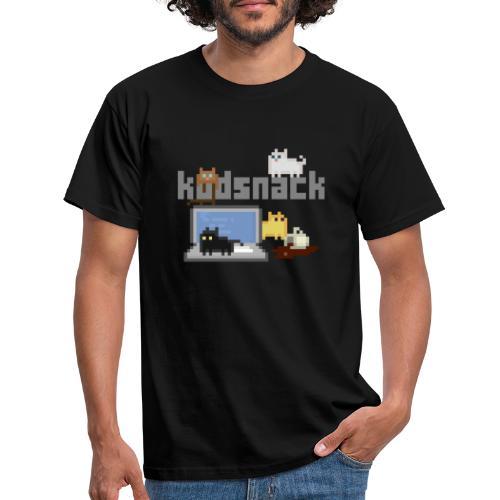 Kodsnack katter - mörk - T-shirt herr