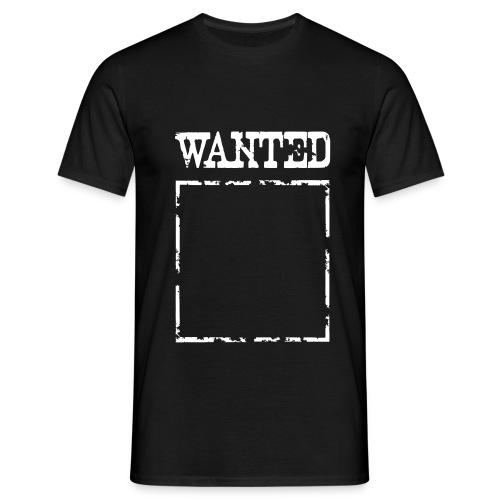Wanted $ Boarder Frame Rahmen -> zum einschreiben - Männer T-Shirt