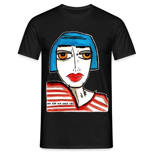 Jag går min egen väg - T-shirt herr