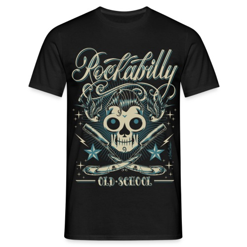 old schoolskull sprd - Camiseta hombre