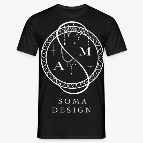 White Soma Logo - Men's T-Shirt