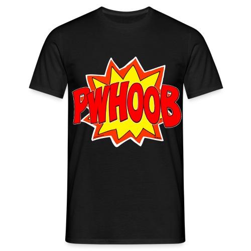 Pwhoob White OutLine - Men's T-Shirt