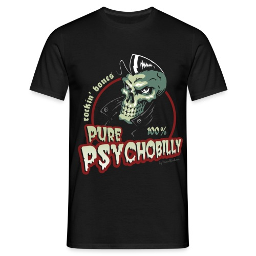 logo pure psychobillycolor 2 - Camiseta hombre