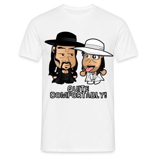 Chibi Light HBK and Dark Taker - Men's T-Shirt