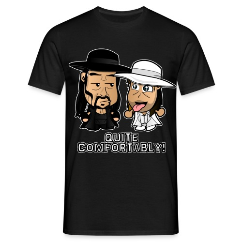 Chibi Light HBK and Dark Taker - Men's T-Shirt