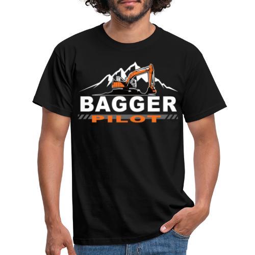 Bagger Pilot Baustelle Baumaschine - Männer T-Shirt