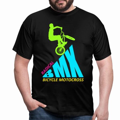 BMX Radical Bicycle Motocross Retro Vintage Bmx - Men's T-Shirt