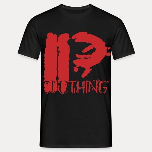 IRON PSYCHO LOGO ORIGINAL-RED - Men's T-Shirt