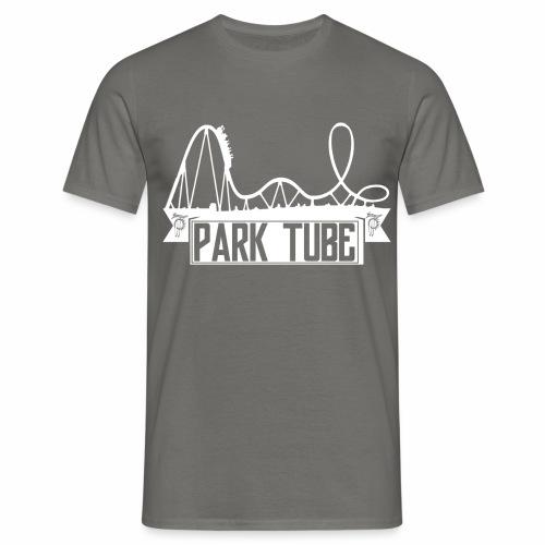 ParkTube Banner mit Achterbahn - Männer T-Shirt