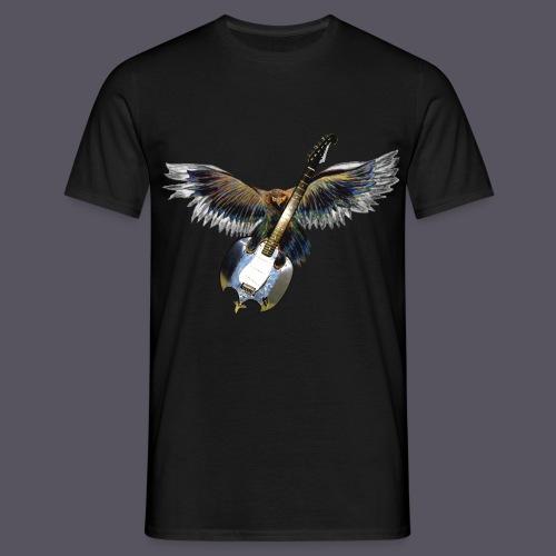 Greifvogel mitGitarrenbeute - Männer T-Shirt