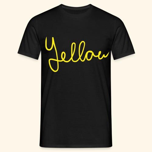 Yellow - Mannen T-shirt