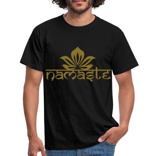 Namaste Lotus Yoga Motiv in Trendfarben MEGA - Männer T-Shirt