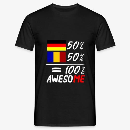 50% Deutsch 50% Rumänisch - Männer T-Shirt