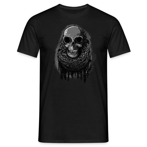 Skull in Chains - Men's T-Shirt