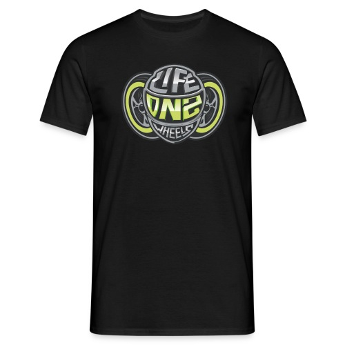 LifeOn2Wheels - CLASSIC BLACK - Männer T-Shirt